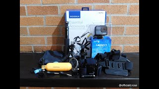 Unboxing Insignia Essential Accessory kit for GoPro, 100% Goggles, and Bilt Dirt Bike Helmet