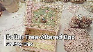 Dollar Tree Altered Box Shabby Chic