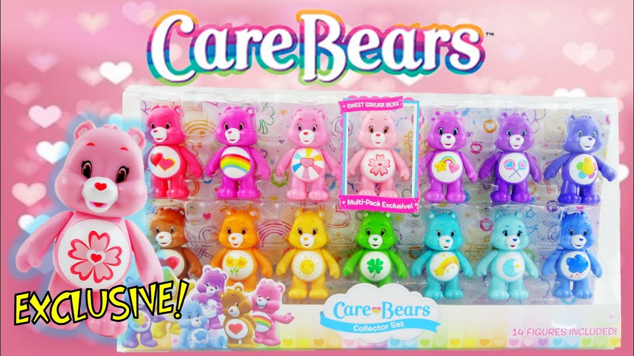 Learn Colors with Care Bears Collectors's Set with Exclusive Sweet Sakura Bear Unboxing and Review