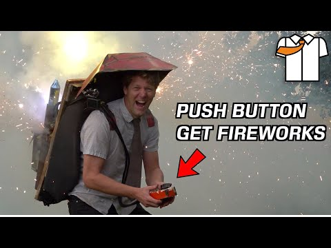 Running Around with a Fireworks Backpack