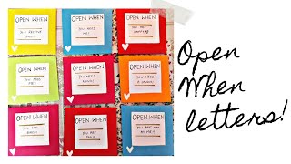 What is inside these Open when letters | What to write in Open When Letters