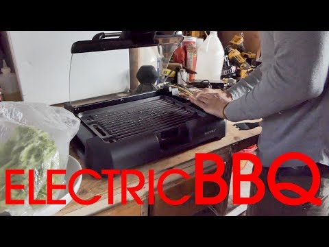 , Secura GR-1503XL 1700W Electric Reversible 2 in 1 Grill Griddle w/ Glass Lid Indoor Outdoor