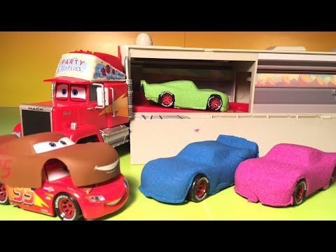 Disney Pixar cars Jocko Flocko Mack DIY kinetic sand cars 3 Lightning McQueen transforms to chester