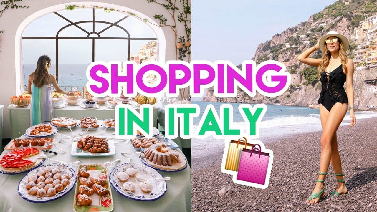 Shopping in ITALY! | Amelia Liana Travel Vlog