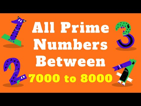 All Prime Numbers List Between 7000 Up To 8000