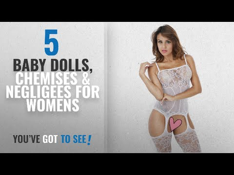 Top 10 Baby Dolls, Chemises & Negligees For Womens [2018]: Cctiwee Women's Hollow Out Fishnet