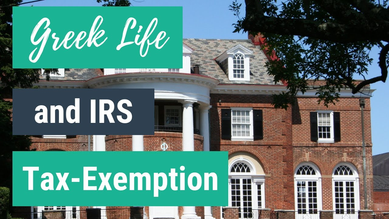 Greek Life and IRS Tax Exemption