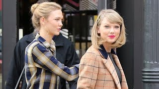 Blonde Beauties Taylor Swift And Karlie Kloss Makeup Shopping In NYC [2014]