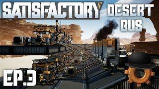 Compact Iron Production | Satisfactory Desert Bus Ep#3
