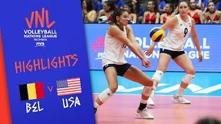 Belgium vs. USA - Game Highlights Women |Week 1 | Volleyball Nations League 2019
