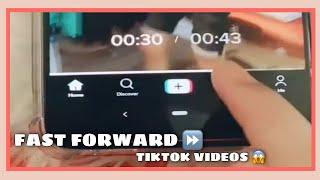 HOW TO FAST FORWARD TIKTOK VIDEO | NEW FAST FORWARD ON TIKTOK 2021