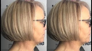 How To Cut A Quick Layered Bob Haircut Tutorial - One Length Layered Haircut