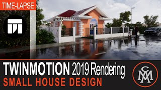Twinmotion 2019 architectural rendering - Poolside Villa