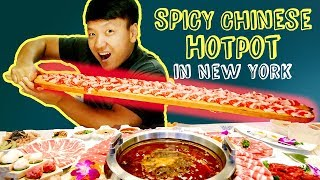 SPICY MEAT FEAST! BEST Chinese Hotpot in New York Review