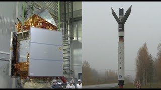 Sentinel-5p Payload Mate on Rockot Launch Vehicle Ahead of Launch
