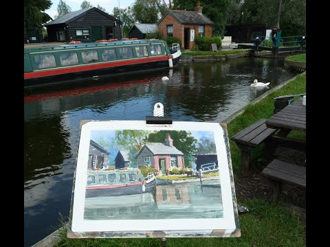 Thumbnail of The Bothy, Paper Mill Lock, Essex. (watercolour demonstration)