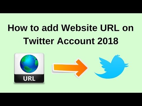 How to add website url on twitter account 2018