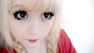 Augen Grosser Schminken Manga Farbe Kontaktlinsen Wimpern