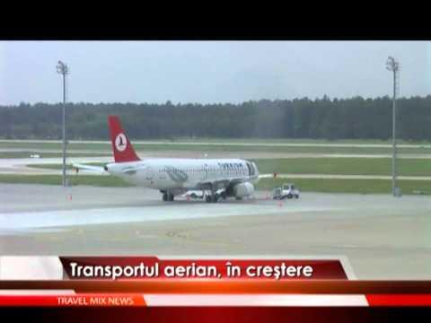 Transportul aerian, în creştere – VIDEO