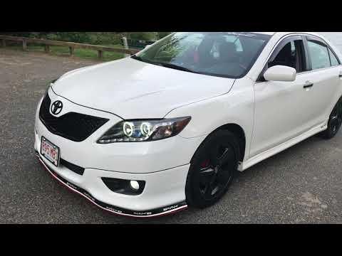 White camry black wheels