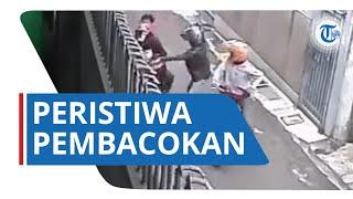 VIDEO Viral di Media Sosial, Aksi Pembacokan di Cicendo Terekam CCTV