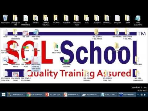 SQL Server DBA (SQL DBA) Demo Video From SQL School ...