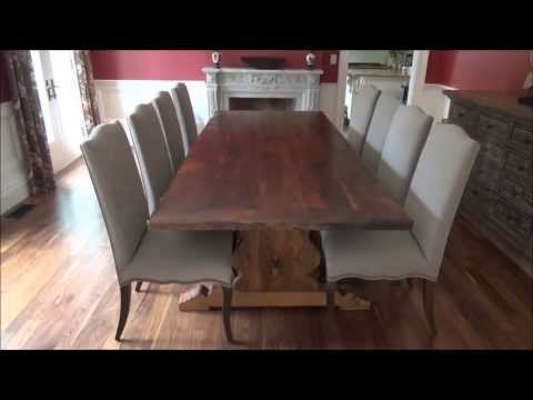 Reclaimed Threshing Floor Harvest Tables Heavy Duty