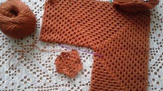 Кардиган из шестиугольников. Часть 1. Основы вязания, пряжа.  Knitting women