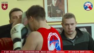 7-ые рейтинговые бои Лига бокса г. Москвы  – 21.01.17 г. до 91 кг.