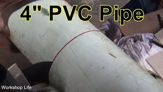 Easy way to cut PVC pipe straight and clean  Cutting PVC with an angle grinder.