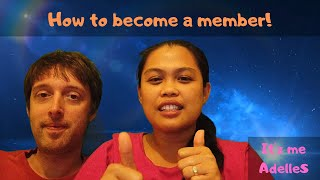 How to become a member!