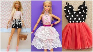 5 Easy And Beautiful DIY Barbie Doll Dresses   Gown For Barbie
