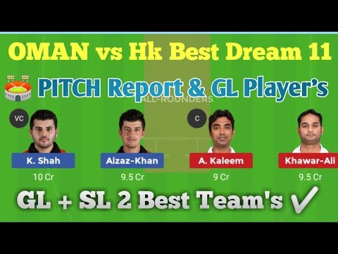 OMN vs HK 4th Qualify Match Dream 11 Team.
