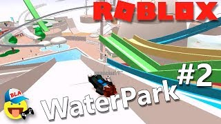 АКВАПАРК В РОБЛОКС #1 Упали с самой большой горки, у нас забрали КОЛУ, для детей Roblox Waterpark
