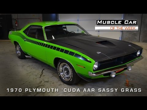 1970 Plymouth 'Cuda AAR Sassy Grass Green Video