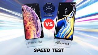 Apple iPhone XS Max vs Samsung Galaxy Note 9 SPEED TEST