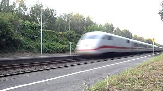 preview picture of video 'ICE 2 DB w Gütersloh na stacji Isselhorst (NRW) 200km/h+'