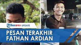 Chat Terakhir Fathan, Pria yang Tewas Terlilit Bed Cover: Februari Free? Kok Pengin Camping-camping