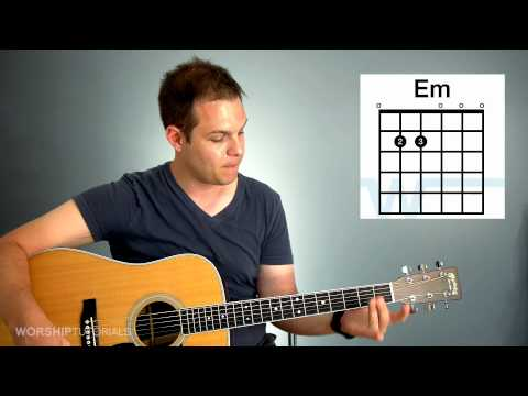 Guitar Lesson - How to play chords in the key of G (G, C, D, Em)
