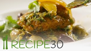 Moroccan  lemon chicken Breast - By www.recipe30.com