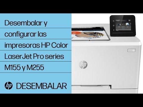 Cómo desembalar y configurar las impresoras HP Color LaserJet Pro de las series M155 y M255