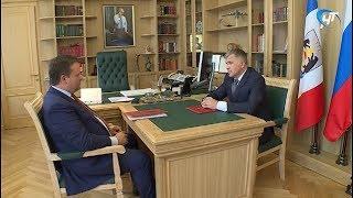 Андрей Никитин встретился с новым зам. председателя областного правительства и с главой Волотовского района