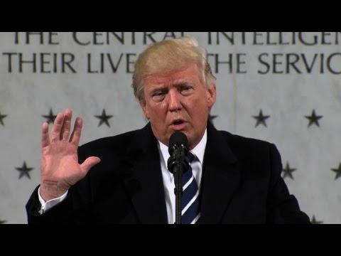 Donald Trump's entire CIA speech