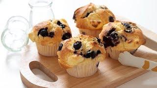 ブルーベリー&チーズマフィンの作り方 Blueberry & Cream cheese Muffin|HidaMari Cooking