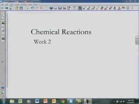 Week 2 Reactions