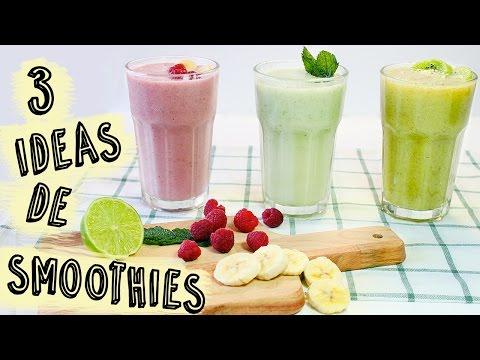 3 Recetas de Batidos de Fruta Sanos y Fáciles | Smoothies de Frutas
