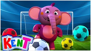 Learn Colors With Soccer Balls And Funny Baby Elephant | Learning Videos For Kids, Toddlers