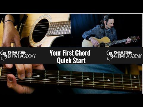 Quick Start Beginner Guitar Lesson 1 | Your First Guitar Chord