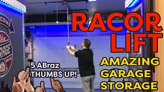 Racor Garage Ceiling Storage Rack Lift For Garage Storage Solutions  | ABraz House |