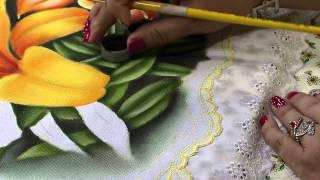 Pintura do lírio amarelo parte1